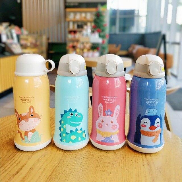 600/400ml enfants dessin animé bouteilles à boire Double couches 316 acier inoxydable Thermos eau enfants isolé tasses Portable maison Sc