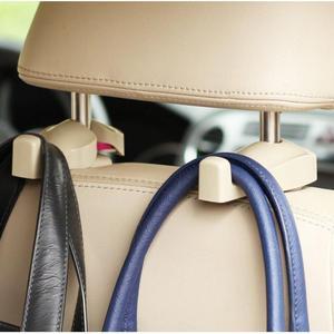 Image 5 - 1 ペア車のヘッドレストフックと電話ホルダーシートバックハンガーユニバーサル用バッグ財布布食料品車の車両バックシートホルダー