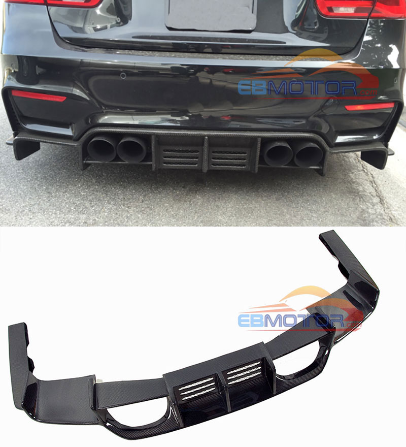 Real Carbon Fiber Rear Diffuser For BMW F80 M3 F82 F83 M4 2014UP B409 image
