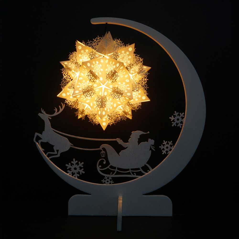 LED Christmas Paper Carving Lamp Home Decor USB Study Room Small Desk 3D Lamp Indoor Home Decorative DIY Night Light