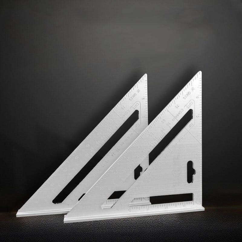 Regla triangular de aleación de aluminio, herramientas de medición de ángulo de 45 grados, escuadra multifunción, herramientas de decoración de madera Anillos cuadrados Circel, luces de techo para sala de estar, dormitorio, hogar, lámparas de techo Led modernas, accesorios lustre plafonnier, dropshipping