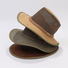 Летние мужские ковбойские шляпы повседневные стильные замшевые