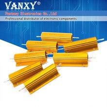 1PCS 100W Alumínio Shell Power Metal Caso Wirewound Resistor 0.01 K 100 ~ 0.1 0.5 1 2 4 6 8 10 20 100 150 200 300 500 K 10 1K ohm