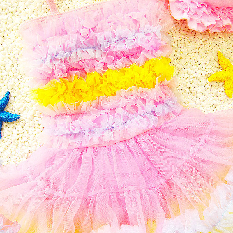 Infants Princess Dress-One-piece Sweet Cute Baby Girls Dance Performance Large Children Swimming Suit