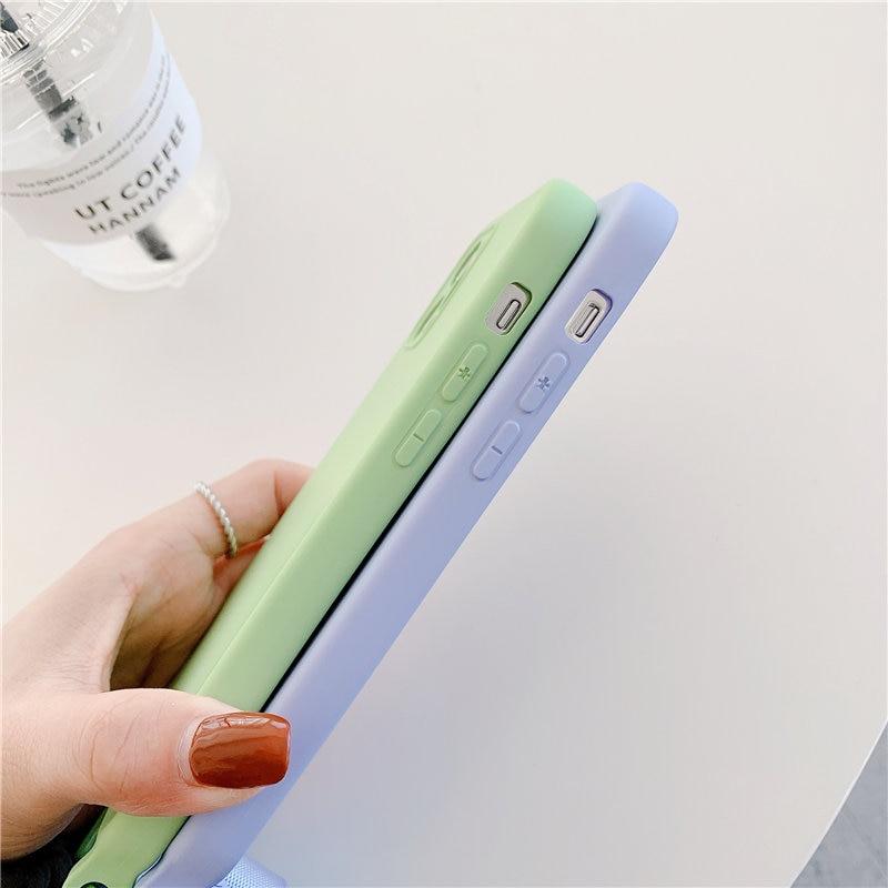 Funda de silicona líquida para teléfono móvil iPhone, carcasa Original con correa de cordón para iPhone 12 11 Pro Max XS XR X 7 8Plus SE 2020 6