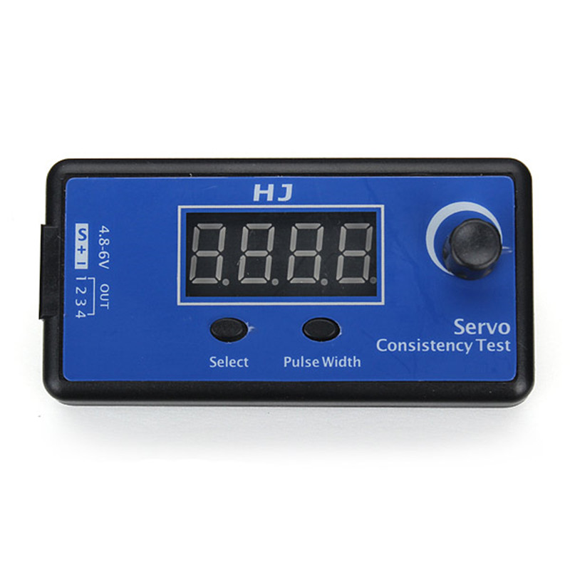 Multi HJ Digital 1-4s Servo Tester/ESC Consistency Tester for RC Airplane DC 4.8-6V 3 Modes Steering Gear Measurement for RC image