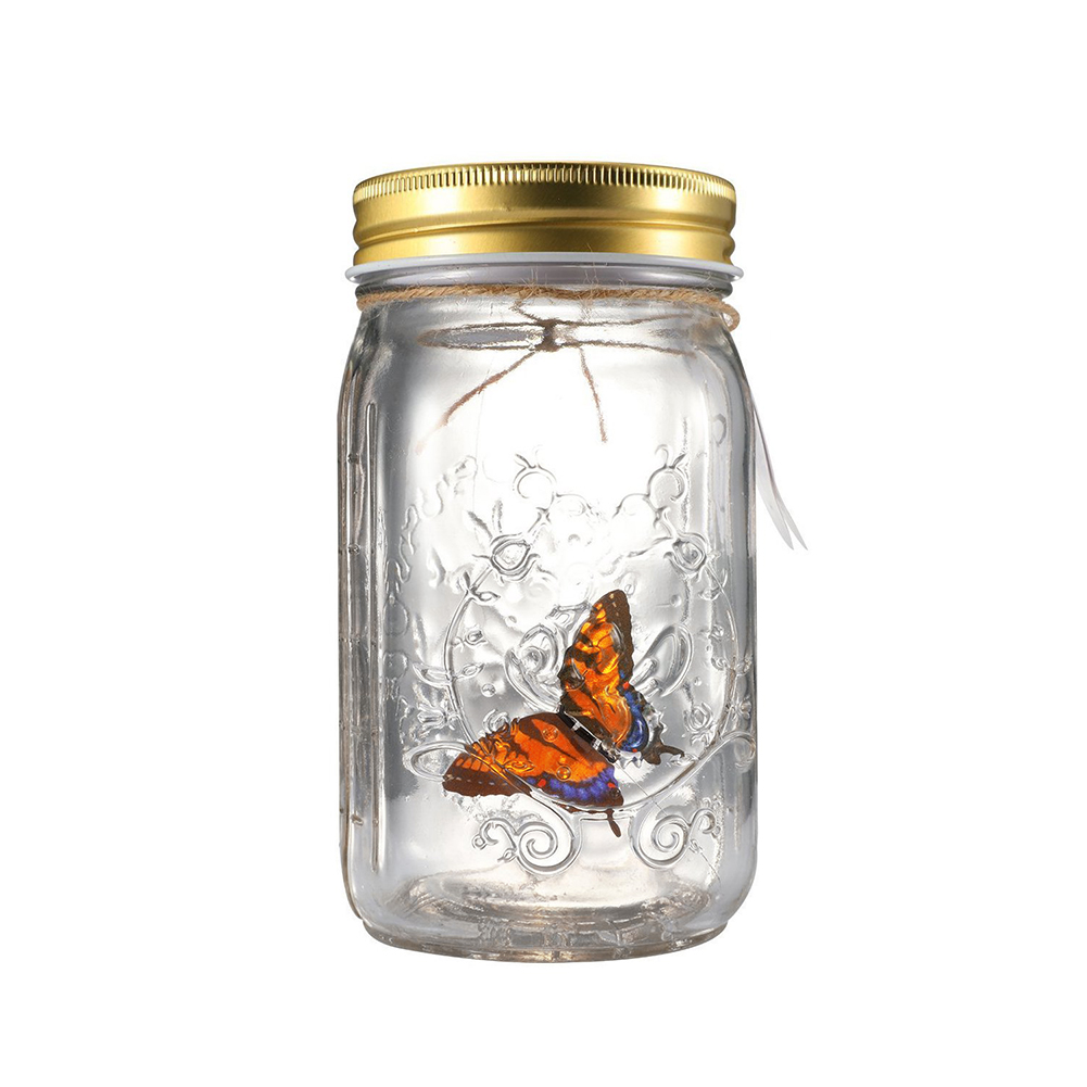 Home Decoration Butterfly Jar Children Beautiful Birthday With LED Lamp Romantic Electronic Glass Bottle Gift Novelty Light