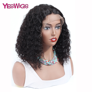 Image 2 - Kinky Curly Wigs For Women 13X4 Malaysian Curly Human Hair Wigs 130% Density YESWIGS HAIR Brown Lace Front Wig Natural Hair