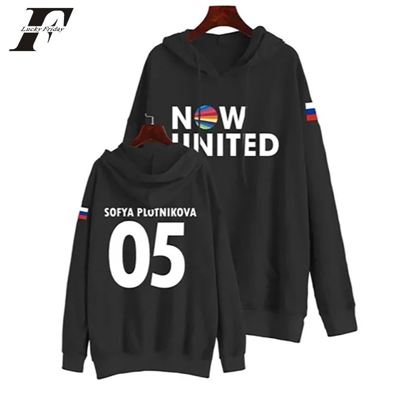 Now United Sabina Hidalgo 03 Hoodie Sweatshirts Trui Kpop Newtracksuit Streetwear Print Casual Mannen Vrouwen Printed Coat Tops 14
