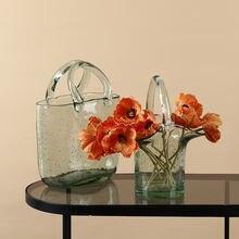 Простой современный Стиль пузырь Стекло ваза корзина сумка ins