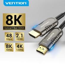Vention 8K HDMI 2.1 kablo 120Hz 48Gbps Fiber optik HDMI kablosu Ultra yüksek hızlı HDR eARC için HD TV kutusu projektör PS4 kablo HDMI
