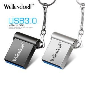 Super Mini USB flash Drive 128GB 64GB 32GB 8GB Metal Pen Drive Pendrive 128 64 32 16 8 GB Flash Memory Cle USB Stick