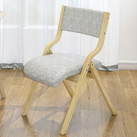 chair home modern simple Nordic dining chair desk chair chair chair chair dining room wooden folding computer chair