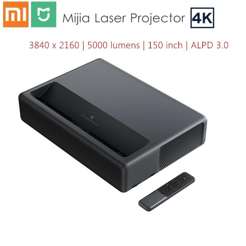 Xiaomi Mijia 4K Proyector láser 3840x2160x150 pulgadas 5000 lúmenes TV teatro en casa 2GB RAM 16GB ROM ALPD 3,0 Android 6,0 3D