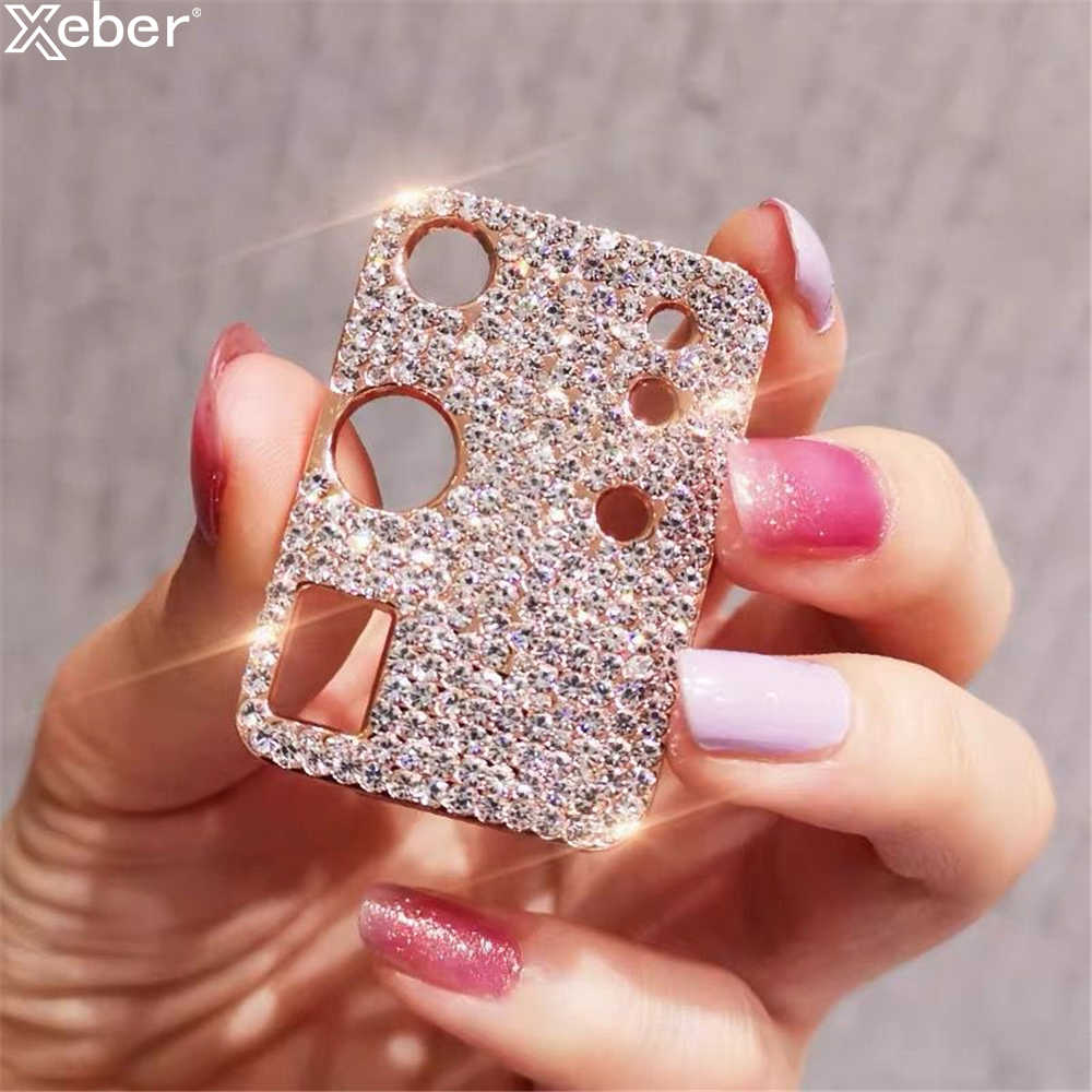 Voor Iphone 11 Pro Max Bling Diamond Camera Lens Protector Voor Iphone 11 Pro Max Glitter Rhinestone Camera Beschermende Ring cover