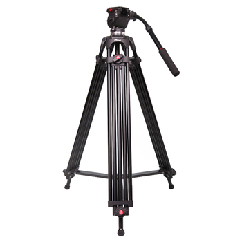 JY0508B JIEYANG Camcorder Professional Tripod for Video Camera Stand / DSLR Heavy Video Tripod/ Fluid Head /55.5 inch Max Height фото