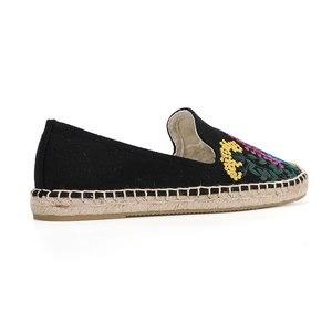 Image 4 - Tienda Soludos נעלי נשים שטוחות אופנה נוח נשים מזדמן 2019 אמיתי מיהר קנבוס Zapatillas Mujer Sapatos