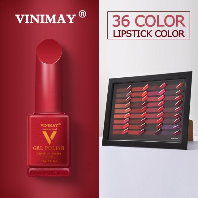 VINIMAY Brand Red Gel Nail Polish vernis semi permanant UV Nail Gel Lak Primer Soak Off Nail Art Gel Varnish Gelpolish Manicure