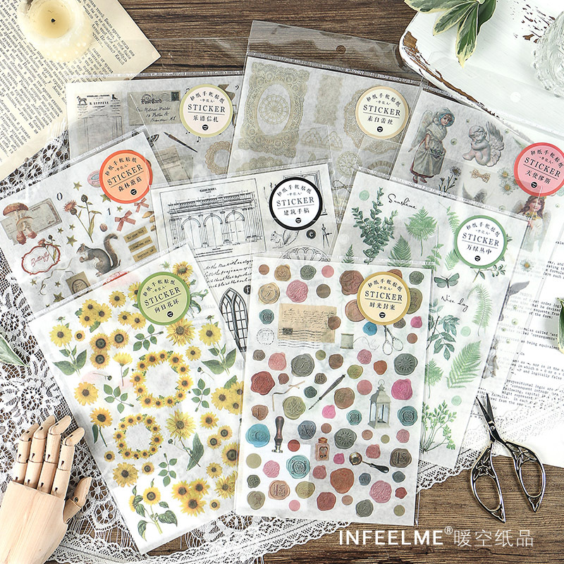 Inspiration Series Sunflower Garland Bullet Journal Decorative Stickers Scrapbooking Stick Label Diary Stationery Album Stickers