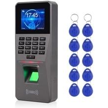 2.4Inch TCP/IP/USB Biometric RFID Keypad Fingerprint Access Control System Electronic Time Clock Attendance Machine
