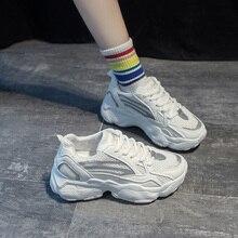 chunky shoes casual women's sneakers Summer New Platform Breathable Mesh Casual Sneakers Fashion Shoes woman Vulcanize shoes баженов юрий васильевич баженов михаил юрьевич основы теории надежности машин учебное пособие