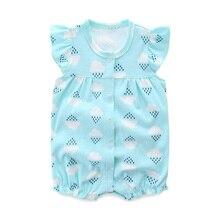 Summer Baby Rompers Newborn Clothes Short Sleeve Ba