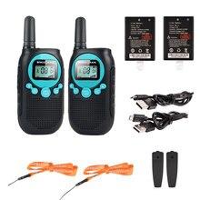מכשירי קשר ארוך טווח 2 דרך רדיו נטענת PMR446 רישיון משלוח ווקי טוקי מתנה הטובה ביותר עבור בנים ובנות בני נוער טיולים