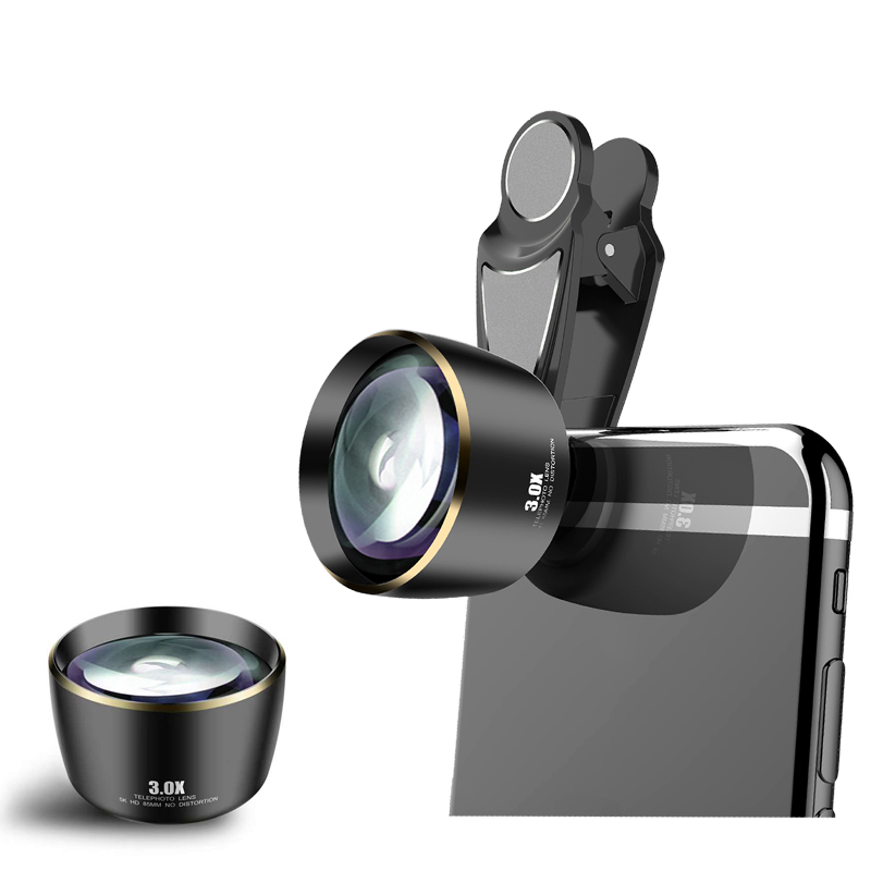 Distortionless 3.0X Telescope Telephoto Lens 5K HD 85MM Phone Camra Portrait Lenses for iPhone Huawei Most Smartphones in Market image