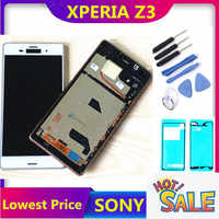 """5.2"""" LCD For SONY Xperia Z3 Display Touch Screen with Frame for SONY Xperia Z3 Dual Display LCD D6633 D6603 D6653 Replacement"""