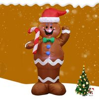 1.5M Led Inflatable Christmas Snowman Props Home Garden Party Decorate ModelToys Waterproof polyester coated polyester fabric