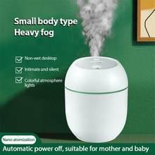 Portátil Usb humidificador de aire del difusor de aceite esencial aire Freash con lámpara de noche LED para casa nebulizador fabricante de la niebla cara de vapor