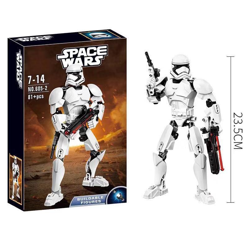 605 2 KSZ Star Wars First Order White Soldier Model Building Blocks Enlighten DIY Figure Toys For Children Chris in Action Toy Figures from Toys Hobbies