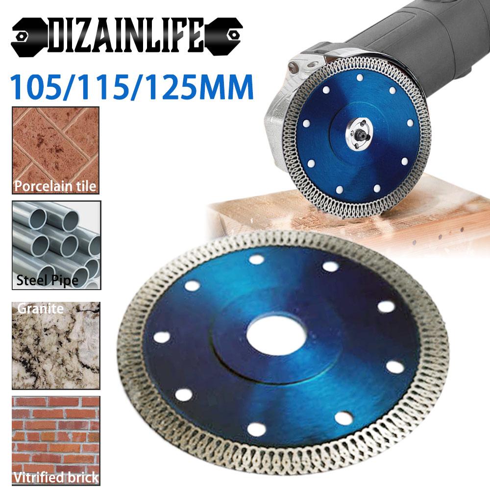 Turbo elmas testere bıçağı granit mermer kesme diski porselen fayans seramik bıçaklar 3 boyutları açı öğütücü için elmas testere bıçağı