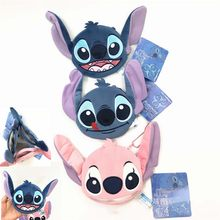 ZGY Stich Geldbörse Kawaii Nette Cartoon Anime Lilo und Stitch Engel Brieftasche Plüsch Geldbörse zipper taschen Für Baby Kinder mädchen Geschenke(China)