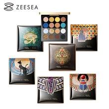 Zeesea novo 16 cores egito paleta de sombra holográfica brilhante fosco brilho pigmento sombra de olho pallete