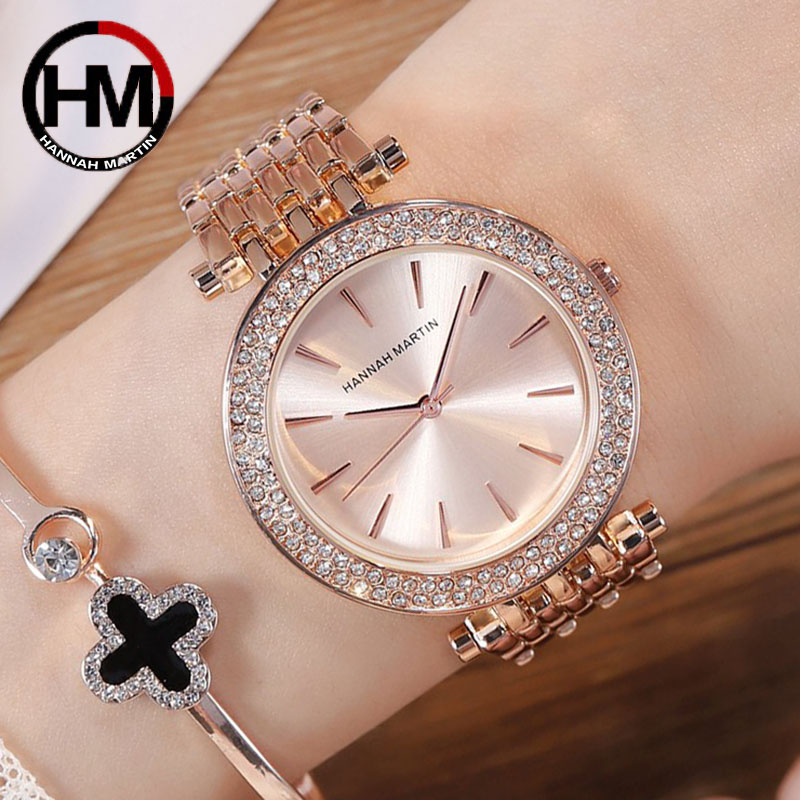 Rose Gold Women Bracelet Watches For Women Rose Gold Stainless Steel Watches Silver Female Clock Elegant Relogio Feminno 2019