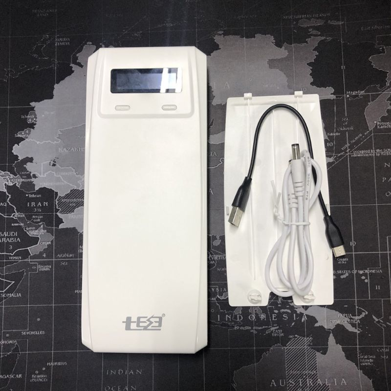 No Battery  QD188-PD Dual USB QC 3 0   Type C PD DC Output 8x 18650 Batteries DIY Power Bank Box Holder Case Fast Charger