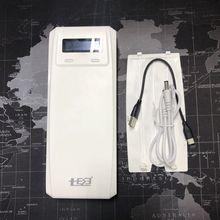(배터리 없음) QD188 PD 듀얼 USB QC 3.0 + 유형 C PD DC 출력 8x18650 배터리 DIY 보조베터리 박스 홀더 케이스 고속 충전기