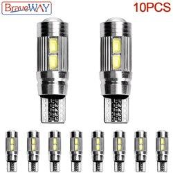 BraveWay 10 * voiture style voiture LED automatique T10 Canbus 194 W5W LED ampoule de Signal aucune erreur lumière LED Parking T10 LED