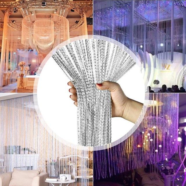 Shiny Tassel-Line Curtains 2