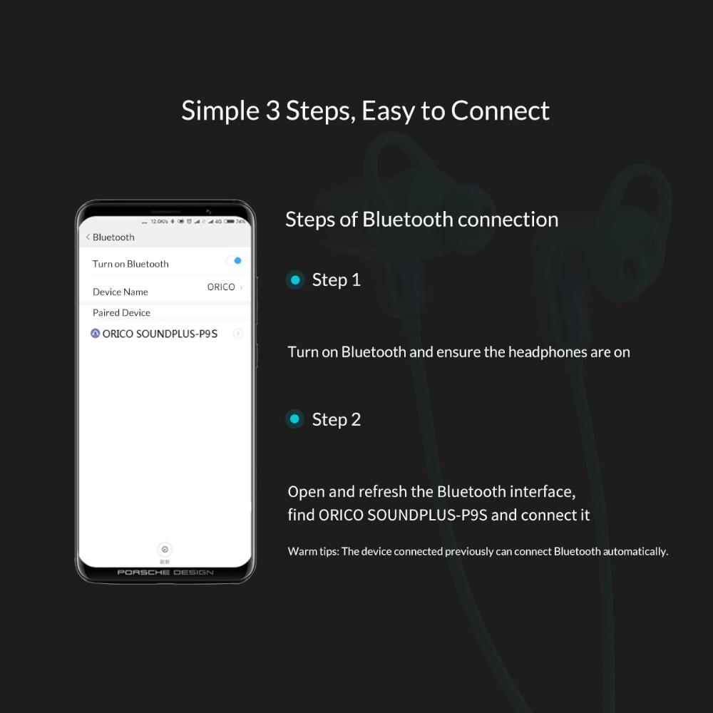 Купить с кэшбэком ORICO Wireless Bluetooth Sporting In-Ear Earphones Headset Stereo Earphones Waterproorf for iPhone Xiaomi Samsung MP3 Phones