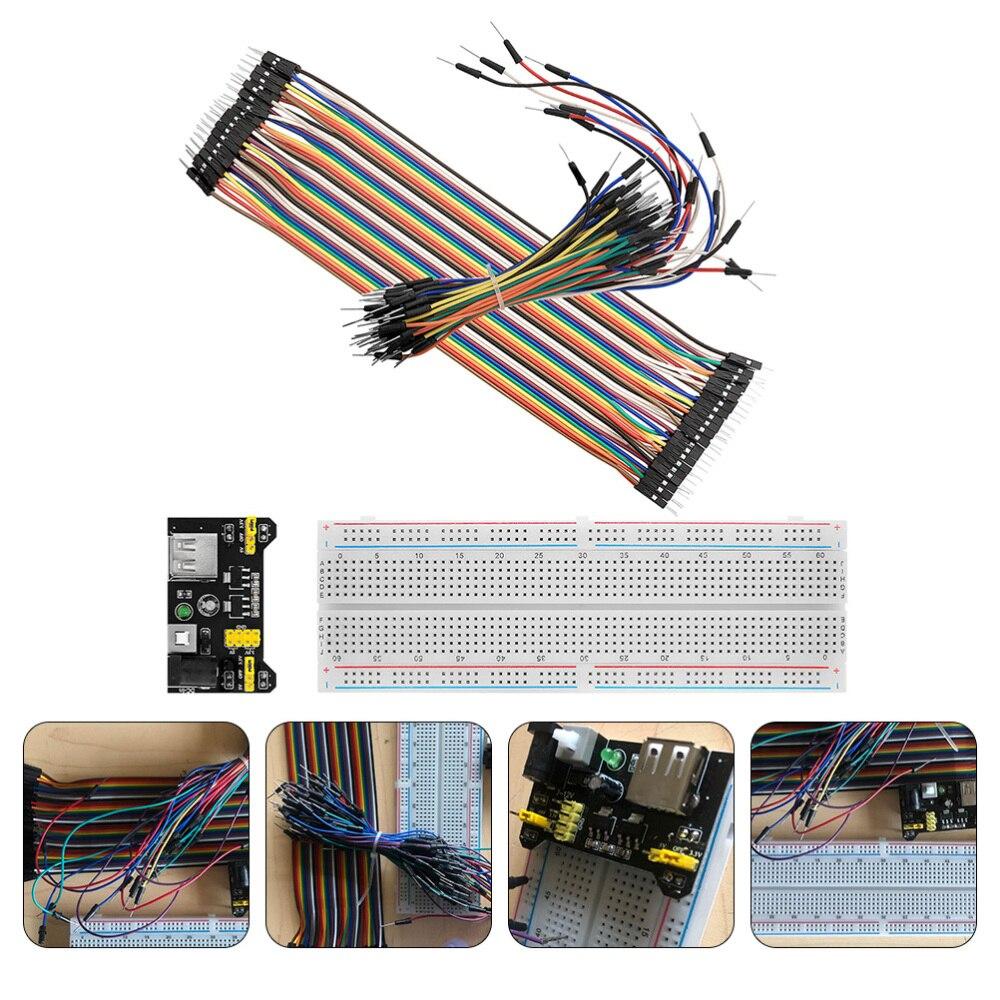 MB102 830 Breadboard Kit Breadboard Power Supply Module 40Pin Line Jumper Wire