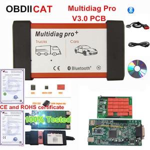 Image 1 - 2017.1 Multidiag Pro Bluetooth OBDIICAT tcs 2016.1/2015.R3 Keygen V3.0 NEC 9241A Double Green PCB OBD2 Car Truck Diagnostic Tool