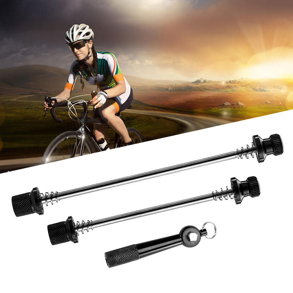 Portable Sports Aluminum Alloy Hollowed Shaft Hand Tools Cycling Anti Theft Wheel Locking Quick Release Skewers Easy Operate