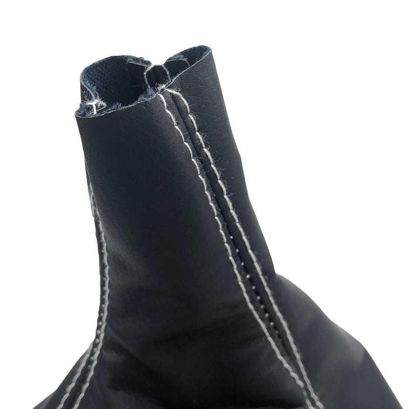 Funda de cuero cromado con tapa de pomo para cambio de marchas, carcasa para OPEL ASTRA III H 1,6 VAUXHALL 2004 2005 2006-2010 Blanco/punto negro