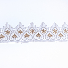 Cusack 2 yards Embroidery Flower Lace Trims Ribbon for Dresses Edge Costumes Applique Sofa Curtain Trimmings White 9 cm DIY