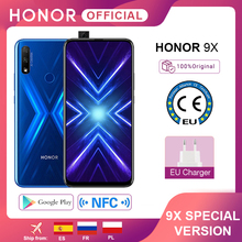 """Special Version Honor 9X Smartphone 4G128G  48MP Dual Cam 6.59"""" Mobile Phone Android 9 4000mAh OTA Google Play"""
