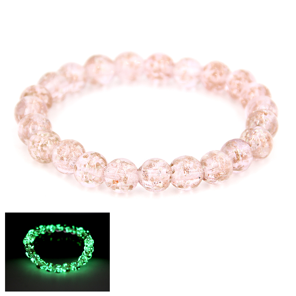 Luminous Bracelet woman Shiny luminescence Lady's Bracelet Glow in the dark chamilia Glass beads female crystal ball shining new