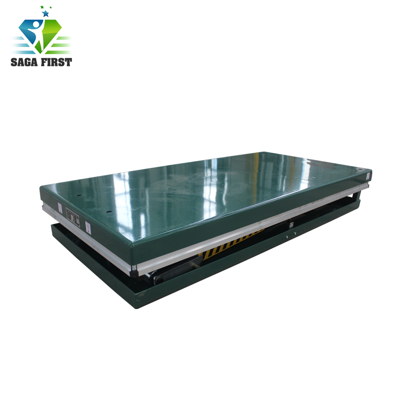 Light Weight Stationary Lift Platform Lifting Single Scissor Lifter