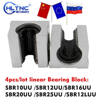 4pcs/lot SBR10UU SBR12UU SBR16UU SBR20UU SBR25UU SBR12LUU linear Ball Bearing Block open type CNC Router SBR guide - sale item Hardware